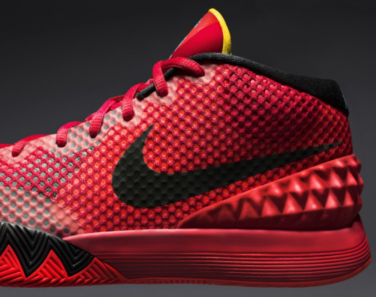 pretty nice 904e0 5b1d1 The KYRIE 1 Deceptive Red colorway is available globally on Jan. 10, 2015.  Along with the shoe, special KYRIE 1 T-shirts, hats and socks will also be  ...
