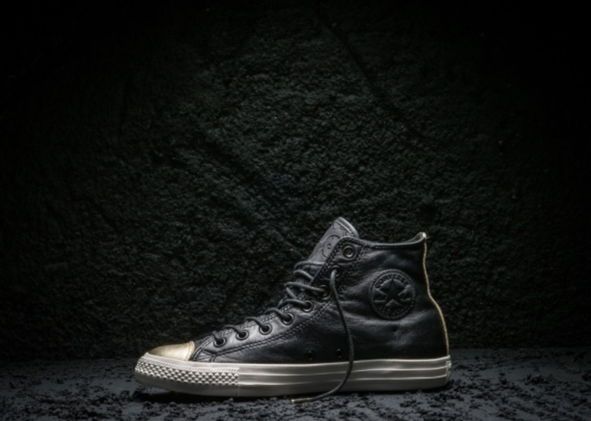 Converse Chuck Taylor All Star Black and Gold Toe