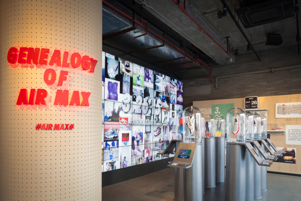 424ce4a66059 An Inside Look at the Giant Air Max Zero Display at Nike Shanghai ...