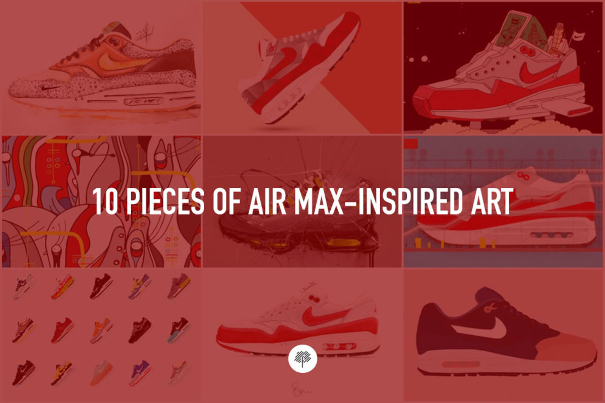 discount sale e395f 7f447 10 Pieces of Air Max-Inspired Art