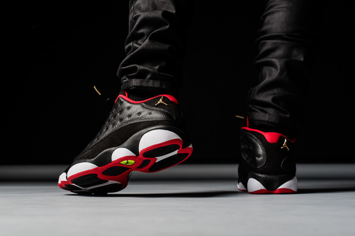 "competitive price bf7c5 3f9c0 A Closer Look at the Air Jordan 13 Low ""Bred"" - Freshness Mag"