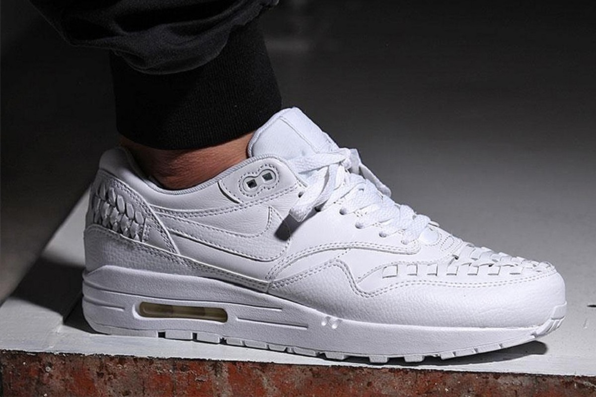 nike air max 1 woven triple white freshness mag. Black Bedroom Furniture Sets. Home Design Ideas
