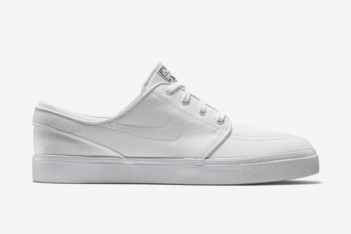 """buy check out look for Nike SB Zoom Stefan Janoski Canvas – """"All White"""" - Freshness Mag"""
