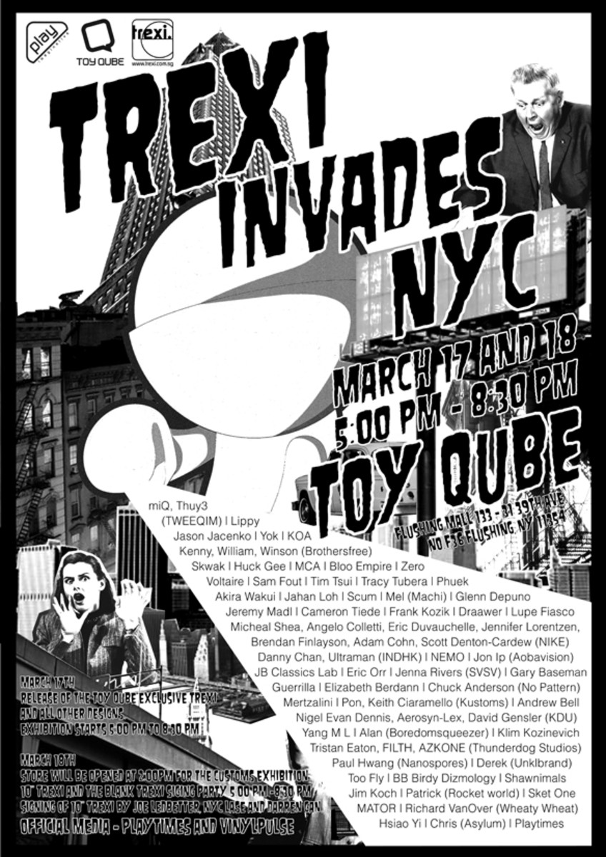 Trexi Invades NYC! @ Toy Qube - 1