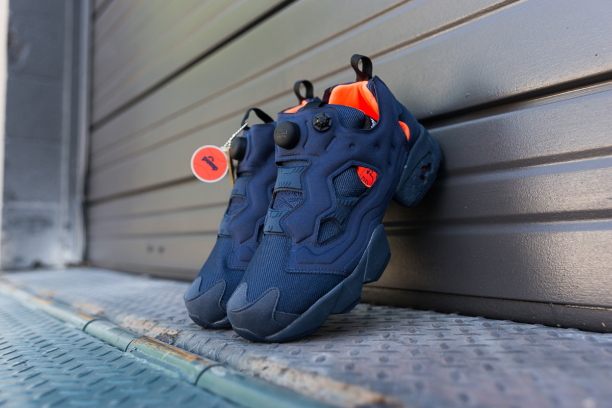 "18c632495162 Reebok Instapump Fury Tech ""Navy Solar Orange"" - Freshness Mag"