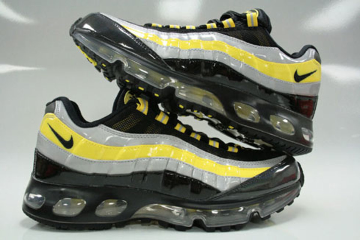 Nike Air Max 95 360 Hybrid - Black, Zest, Silver Patent - 1