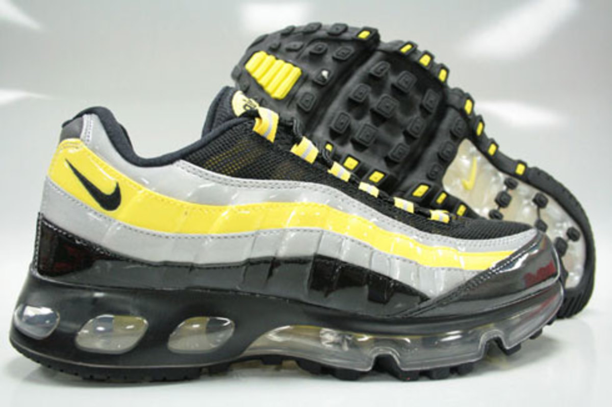 Nike Air Max 95 360 Hybrid - Black, Zest, Silver Patent - 0