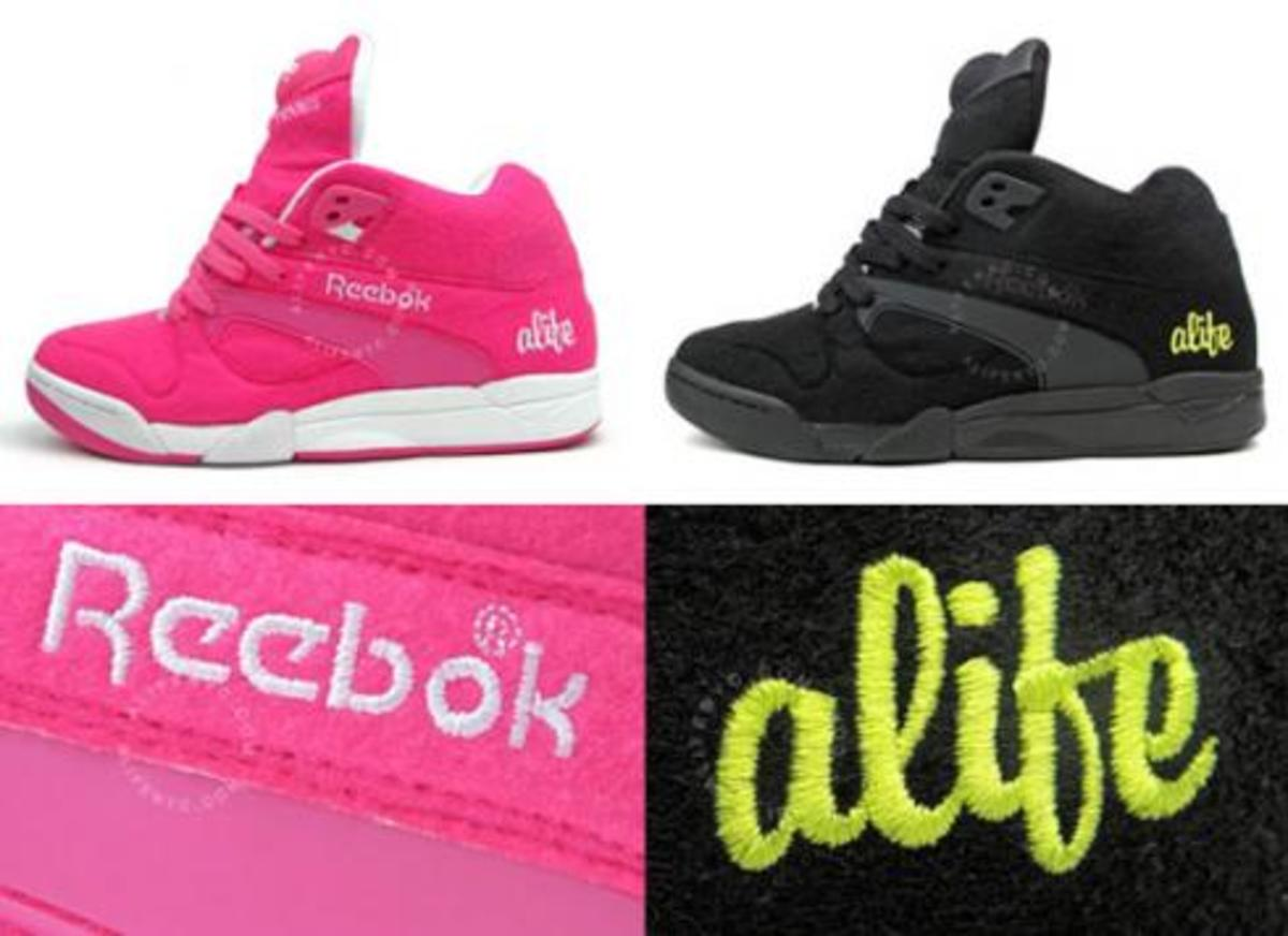 ALIFE x Reebok Court Victory - Ball Out - Black + Pink - 0
