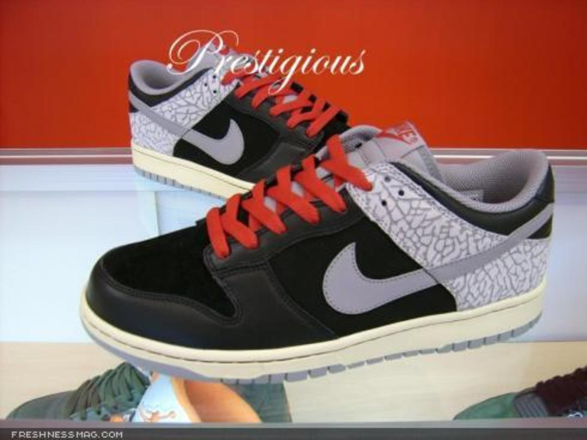 Nike  Cement Dunk Low - Black/Red/Cement - 0