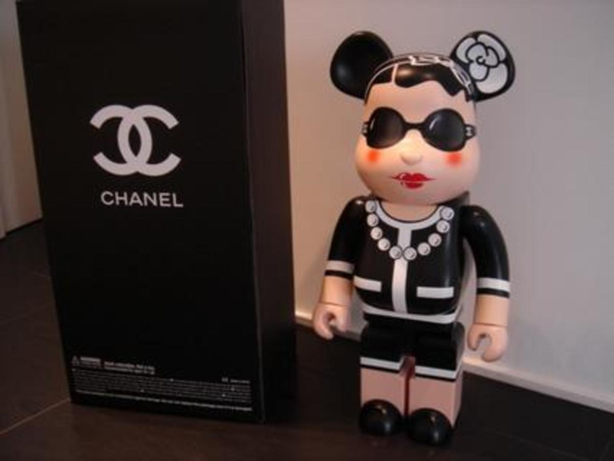 MEDICOM TOY x CHANEL - 1000% BE@RBRICK - 0