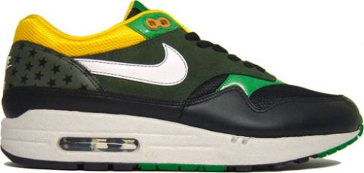 Nike Air Max 1 - Friendly Football Pack Black/Green-Maize