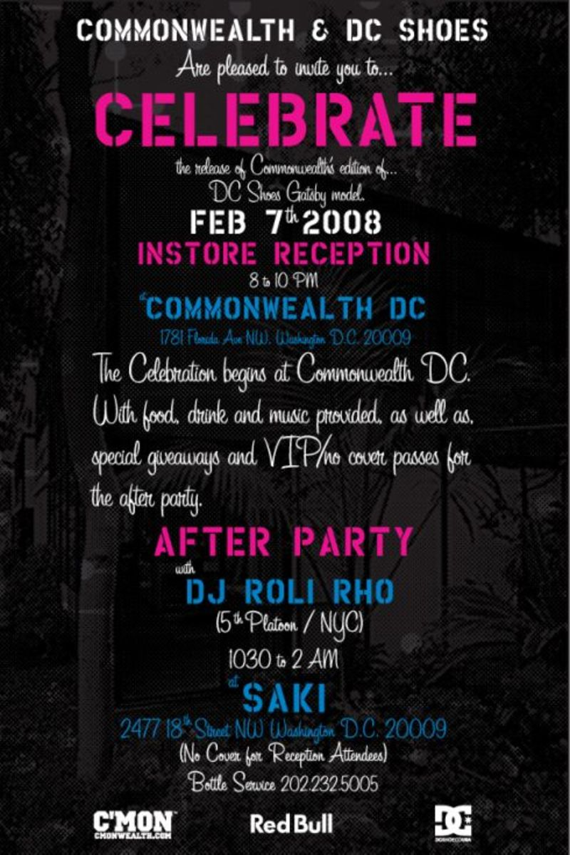 Commonwealth x DC Shoes - Great Gatsby Collab Party - 2