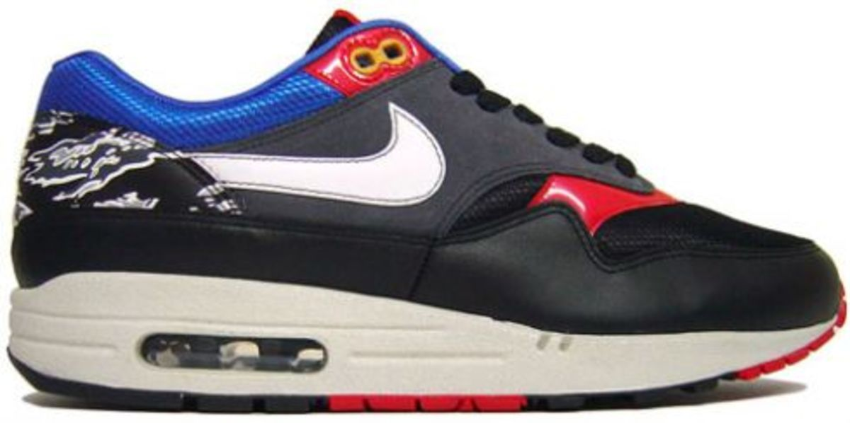Nike Air Max 1 - Friendly Football Pack Black/Red-Royal
