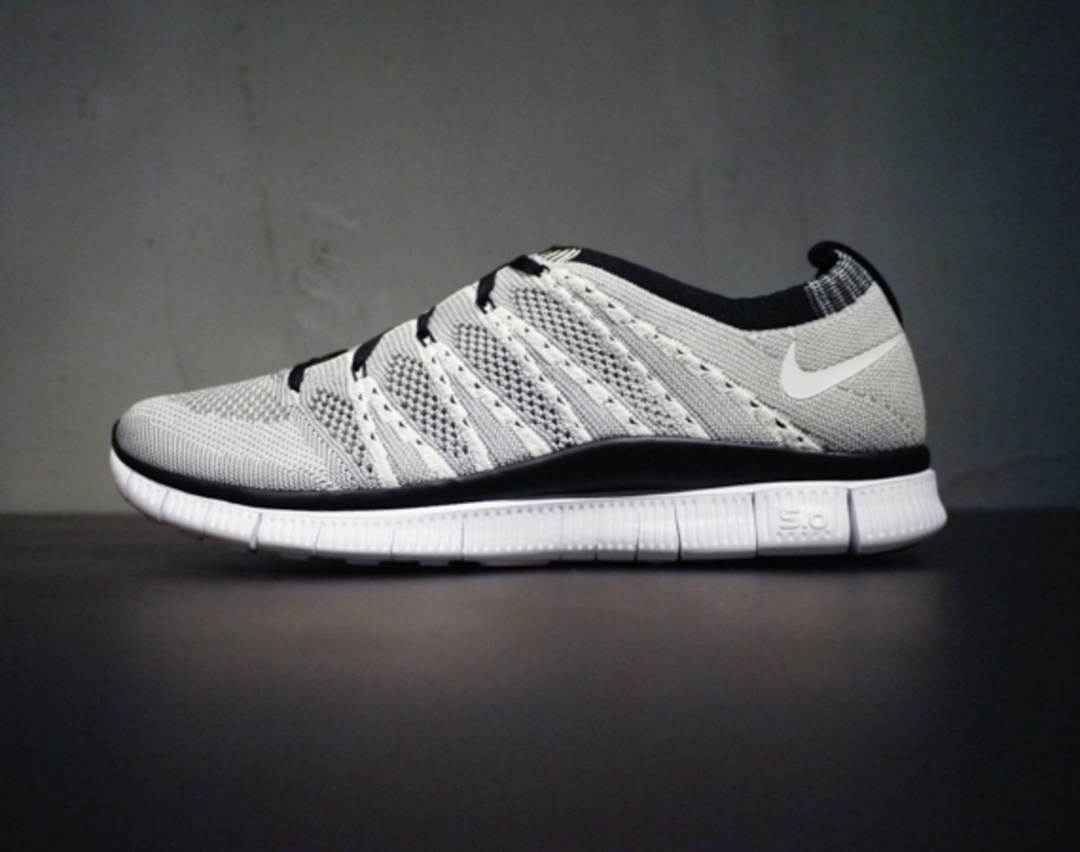 nike free flyknit 5.0 htm sp - white/light charcoal smokers