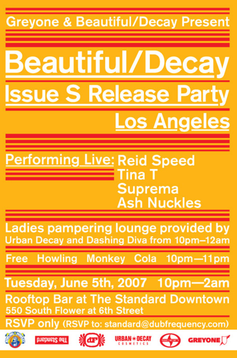 GREYONE Presents BEAUTIFUL DECAY Release Party