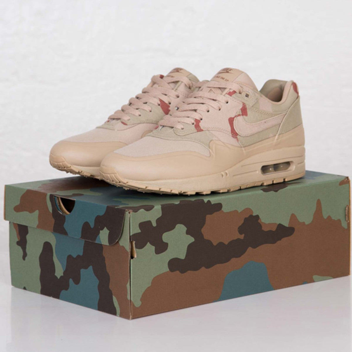 """b7e8f3758de9b Since we are on the subject of camouflage, Stockholm's SneakerNStuff  recently announced that it will launch the Nike Air Max 1 SP """"Desert Camo  USA"""" starting ..."""