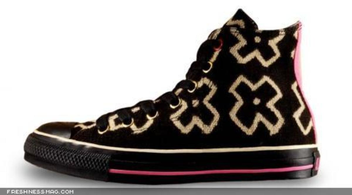 Converse x Giles Deacon - Mudcloth Chucks for (RED) - 0