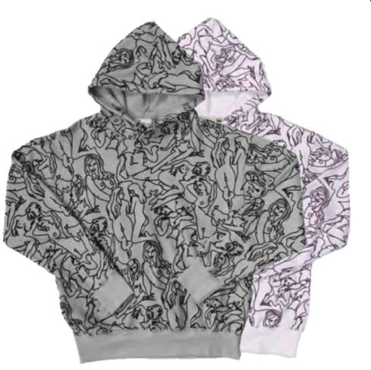 Money All Over Print Dirty Hoody - 0