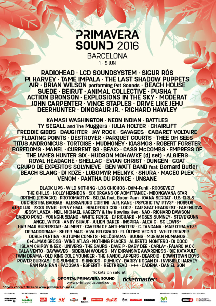 The 2016 Primavera Sound lineup features the return of Radiohead