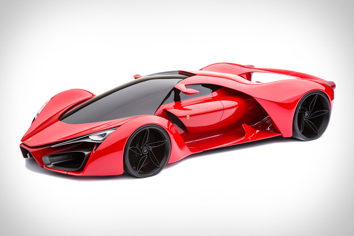 the ferrari f80 concept harnesses a twin turbo hybrid v8 freshness mag. Black Bedroom Furniture Sets. Home Design Ideas