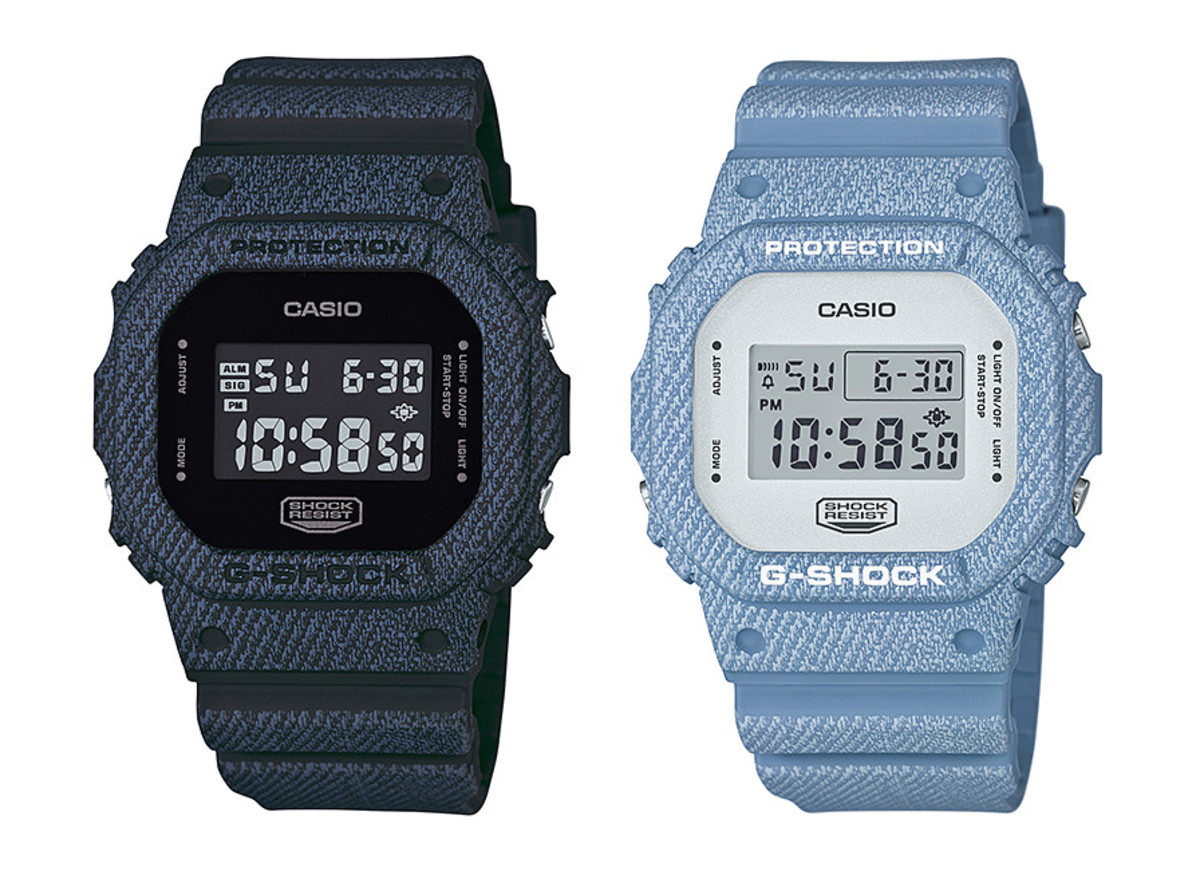 8ad81a0a674 G-Shock Debuts DW-5600DC Denim Color Series - Freshness Mag