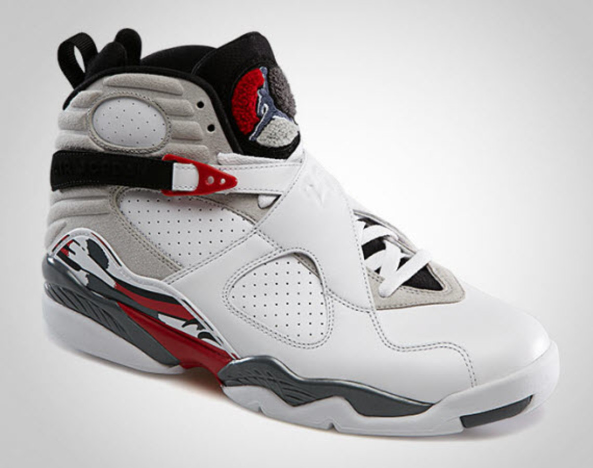 e0cf5efe0882 Air Jordan VIII - White True Red - Flint Grey
