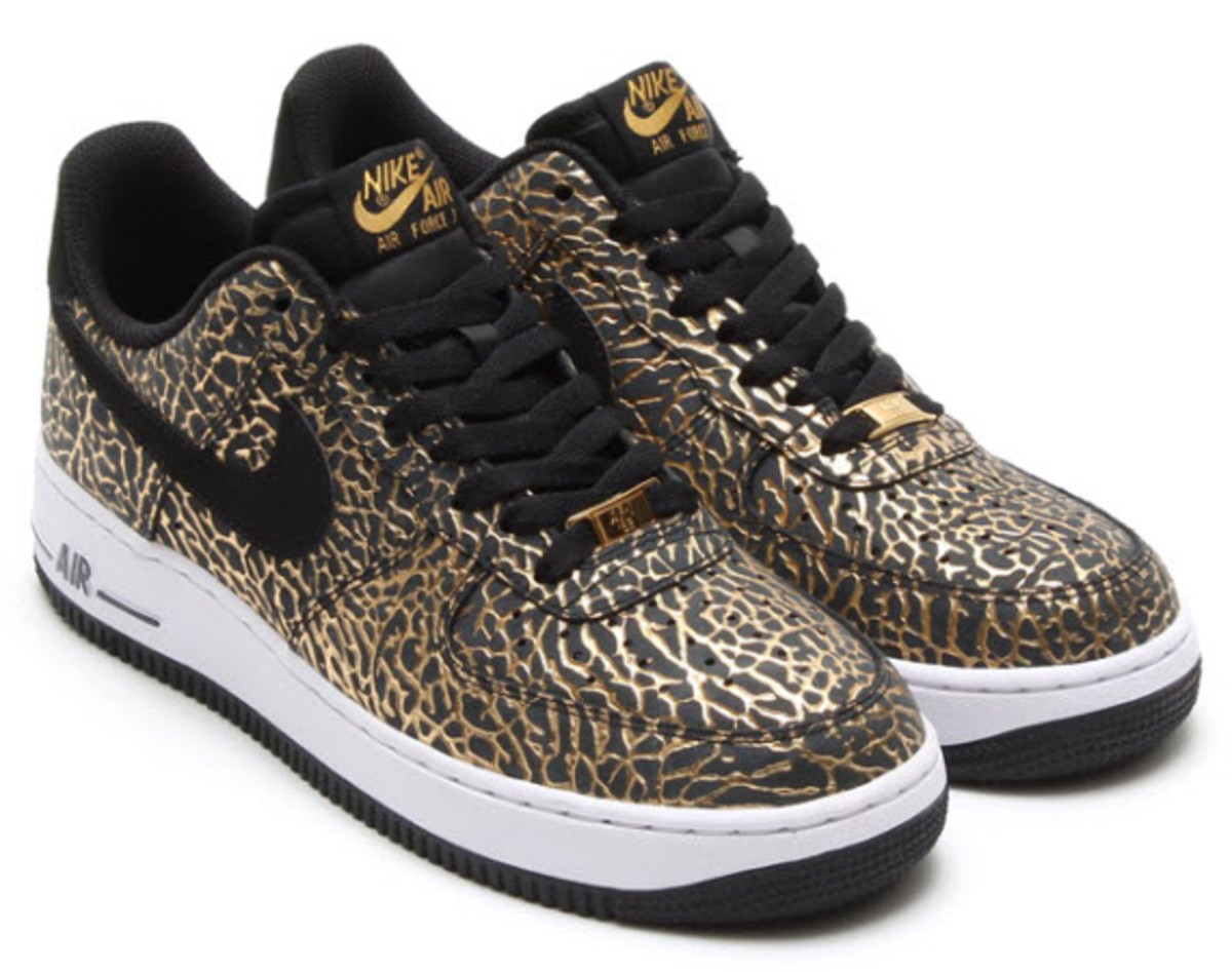 nike air force 1 low gold elephant print