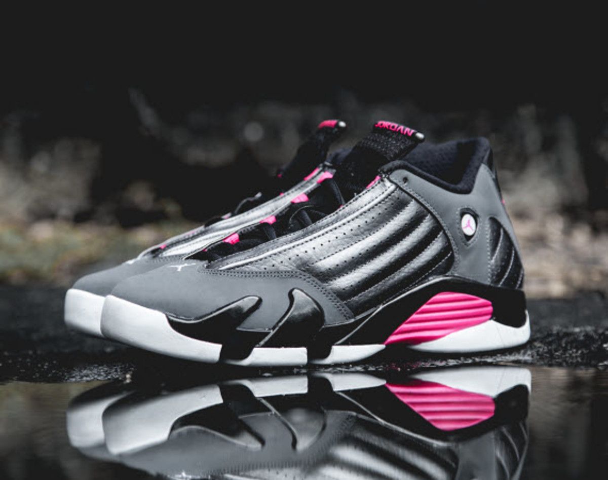 98716a0e45efb3 ... retro gs metallic dark grey black white hyper pink a0dd9 b9578  usa as  if you couldnt tell from the hyper pink accents this latest air jordan 14