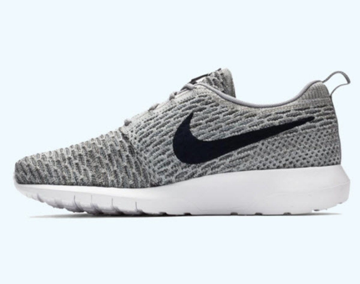 85843f36d9be best price nike flyknit roshe run light charcoal dark obsidian wolf grey  e332f fd983