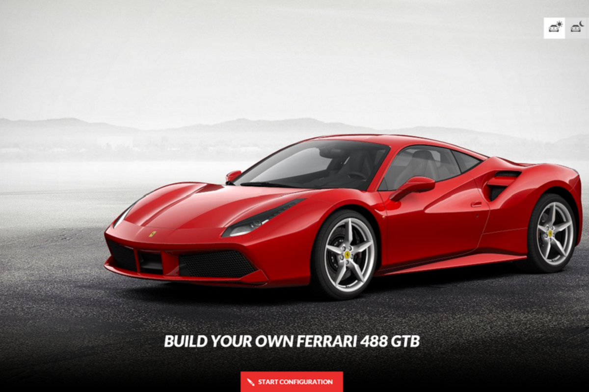 ferrari 488 gtb configurator freshness mag. Black Bedroom Furniture Sets. Home Design Ideas