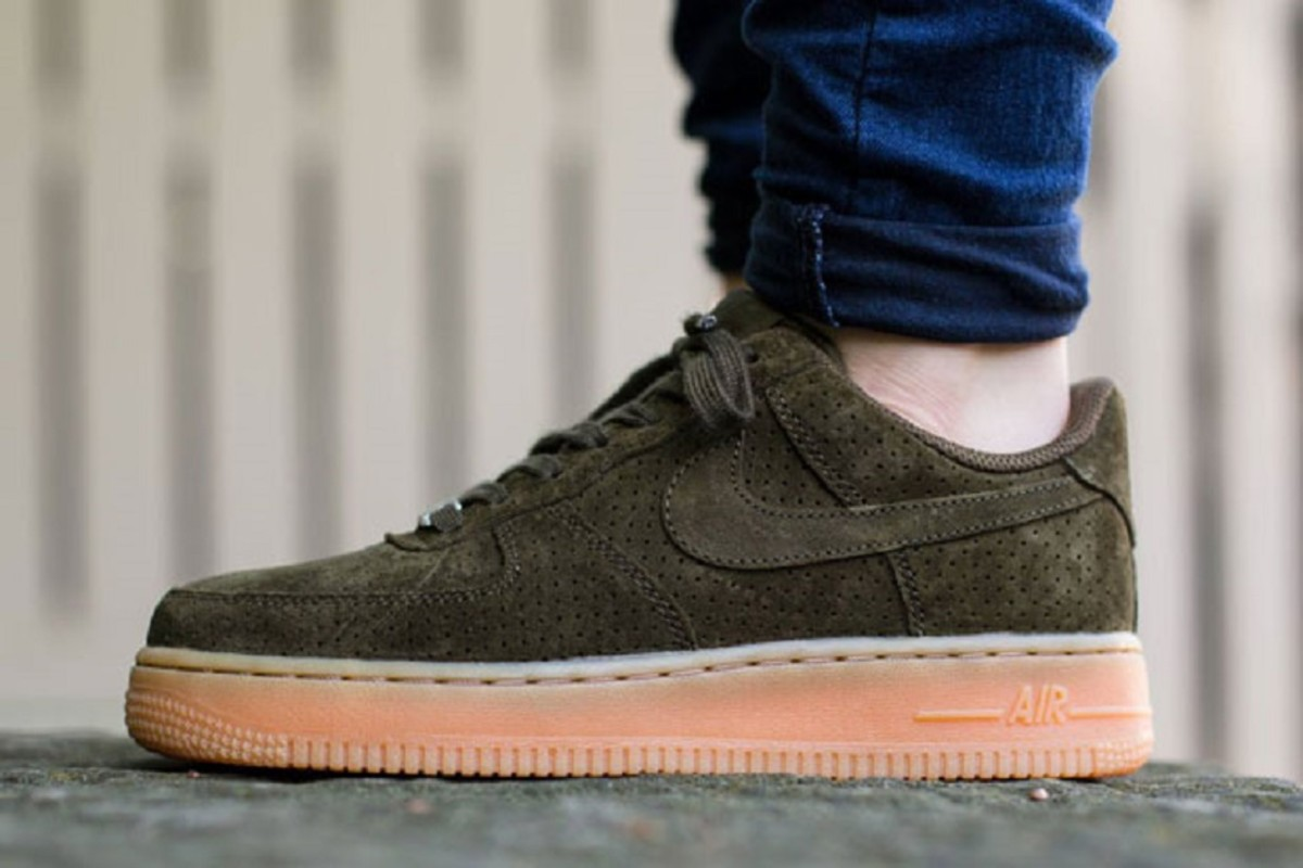 Nike Air Force 1 Low Femmes En Daim