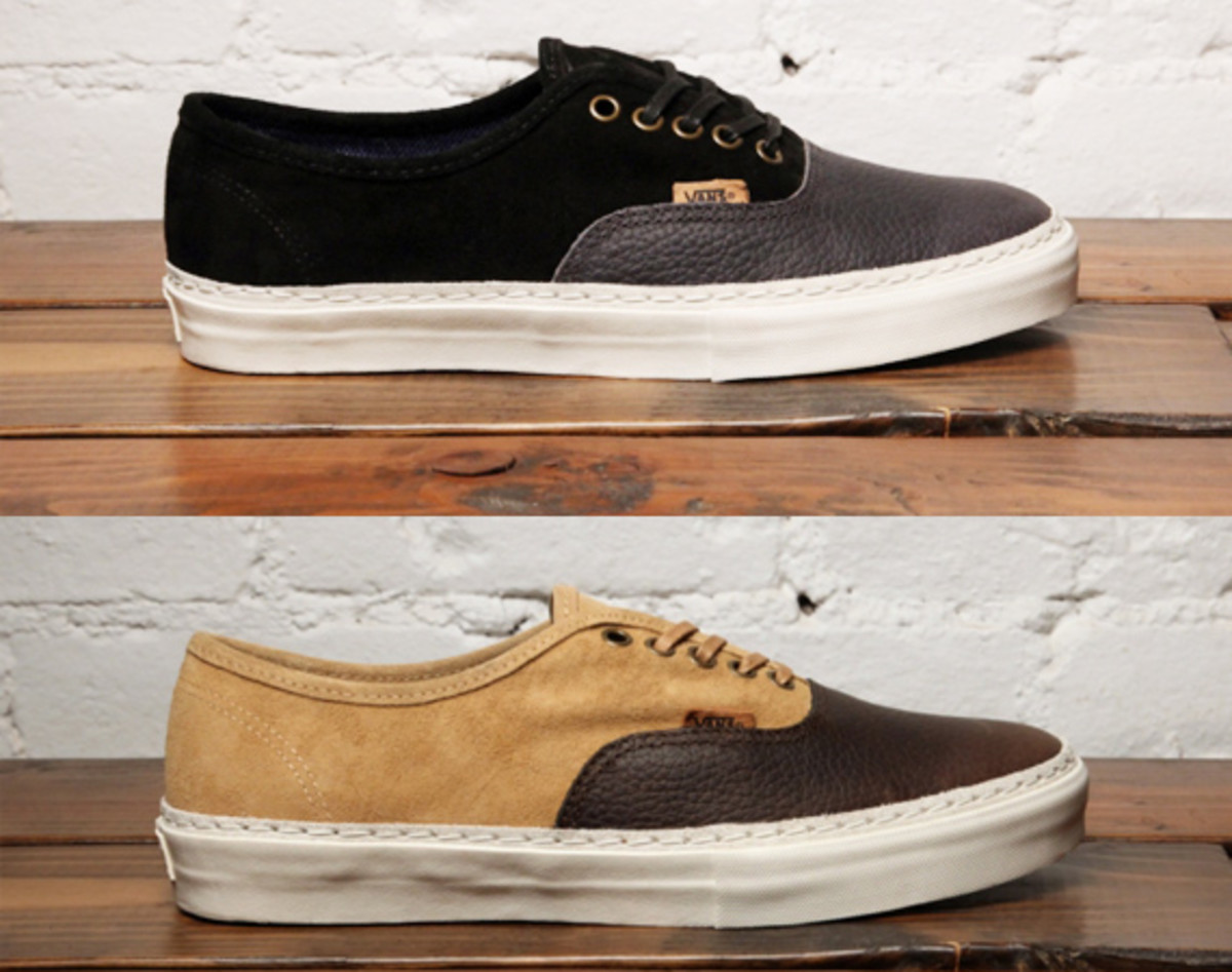 VANS AUTHENTIC LX VAULT LEATHER SUEDE CHOCOLATE BROWN [R89i3400]