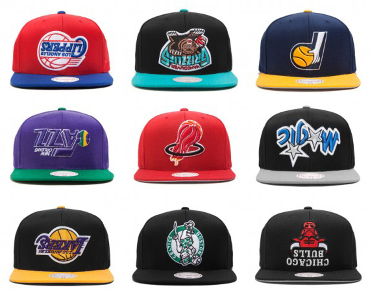 Hall of Fame x Mitchell   Ness - Upside Down Headwear Collection ... c1aa58f77e7