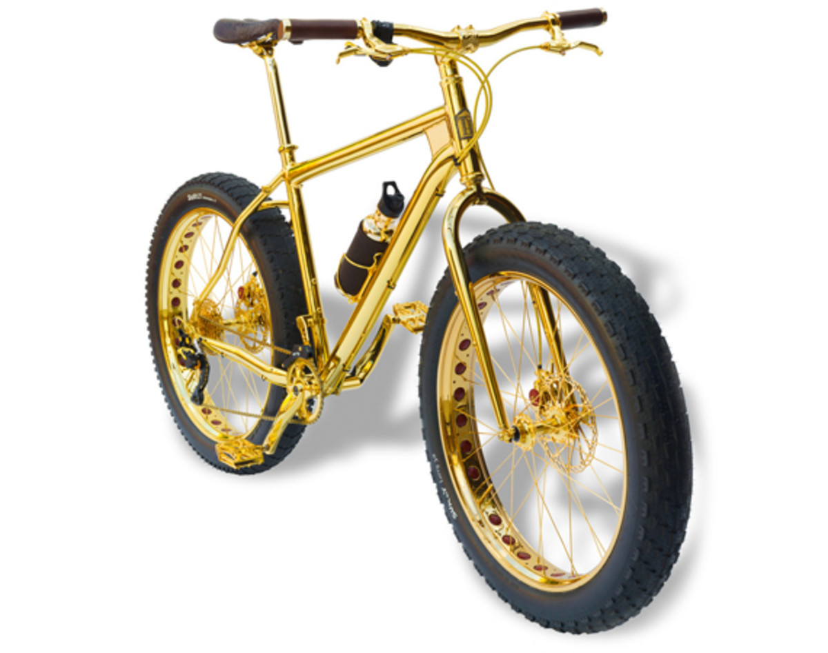 Image result for Beverly Hills Edition 24k Gold Extreme Mountain Bike