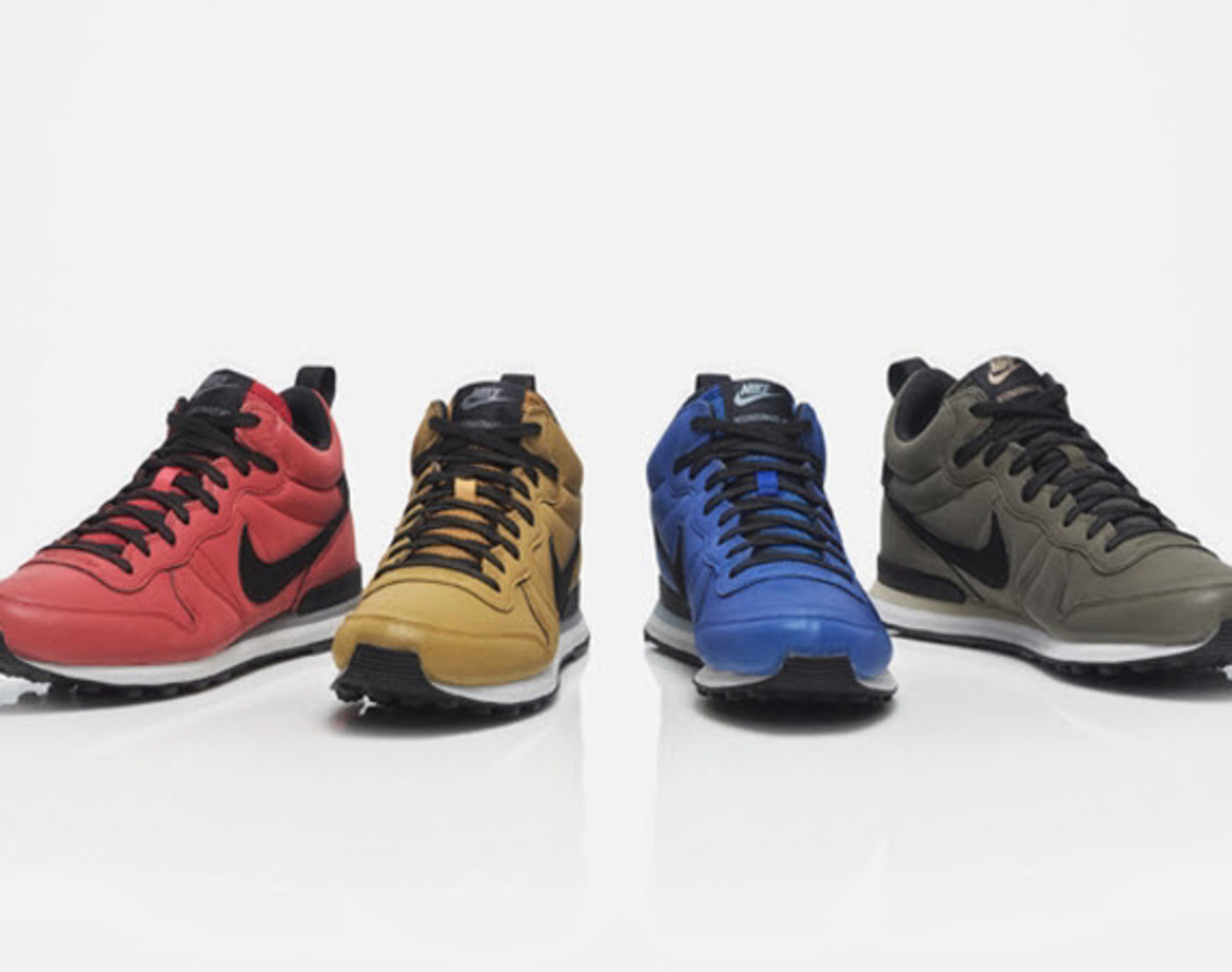 official photos dc668 bb8d5 Hitting the streets in a range of colorways, Nike is out with a new  Internationalist Mid QS Pack. In addition to the four colorways, Nike is  sending the ...