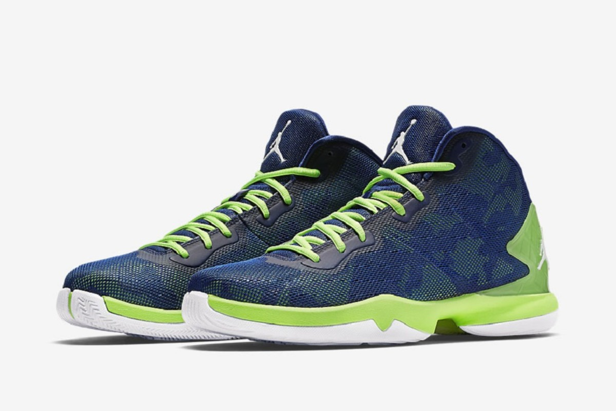 63344304ffb The navy and lime green of the Seattle Seahawks on their own are  immediately recognizable, but when these colors strike the mold of the Jordan  Super.Fly 4 ...