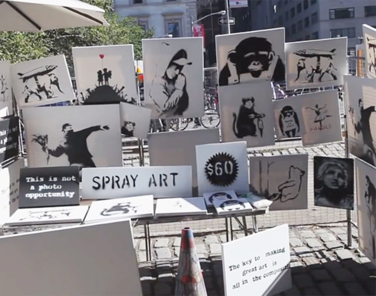 Banksy Anonymously Sold His Art in Central Park