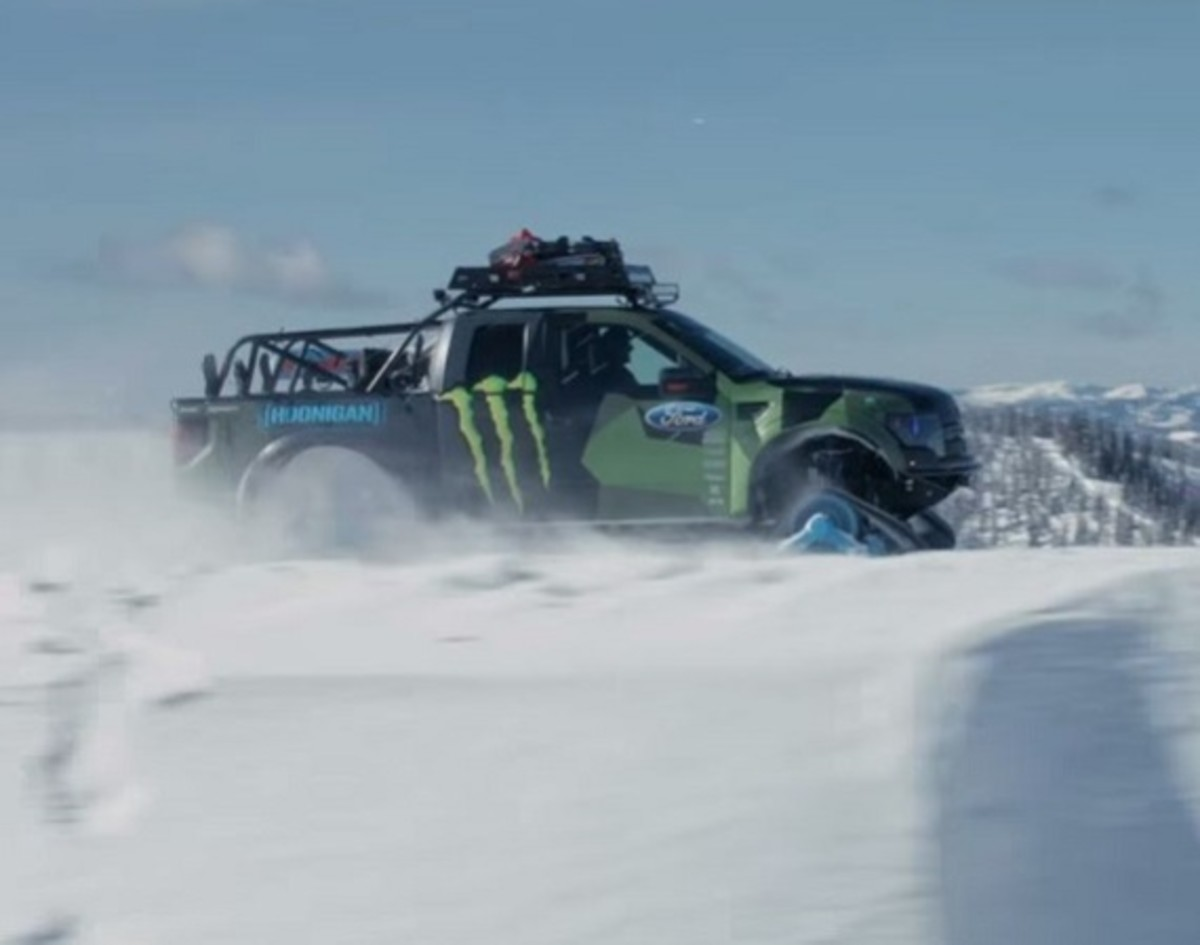 Ken Block Showcases His Ford F 150 Raptortrax Video