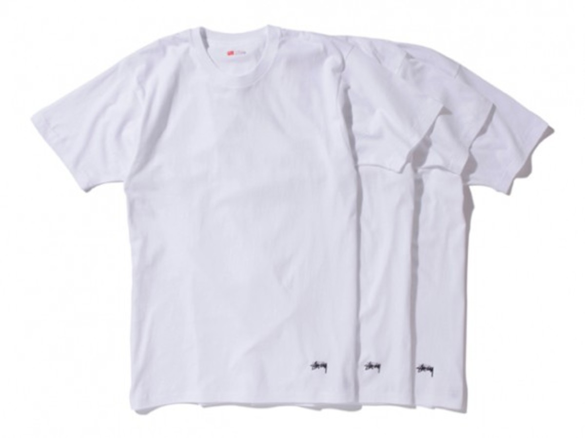 Stussy X Hanes 3 Pack T Shirts