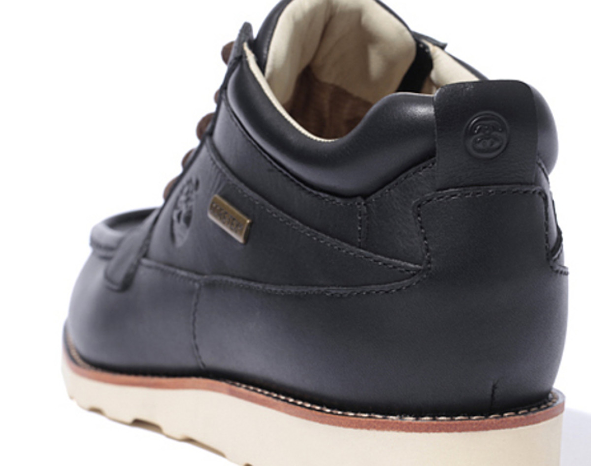ce8cbfc9 Stussy Deluxe and Timberland have teamed up once again on a new  collaborative effort, this time in the form of a chukka boot. The versatile  five-hole ...
