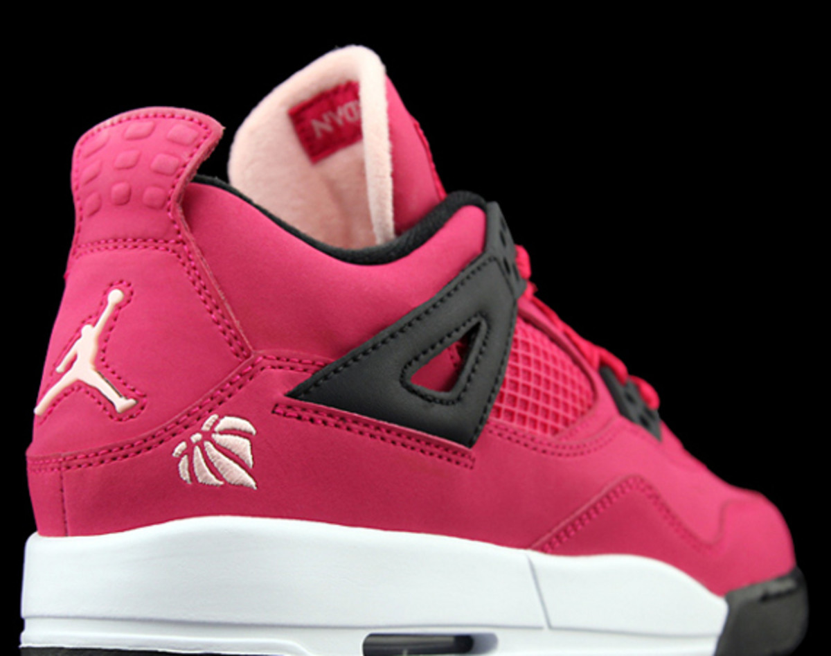100% authentic 9b79c b81ff The universal appeal of the Air Jordan IV has been established  the  silhouette looks great even when shrunken down to girls  sizes and colored  a vivid shade ...