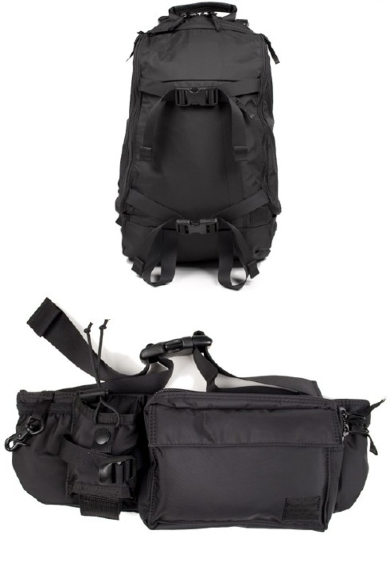HEAD PORTER - Black Beauty - Rucksack + Waist Bag - 0