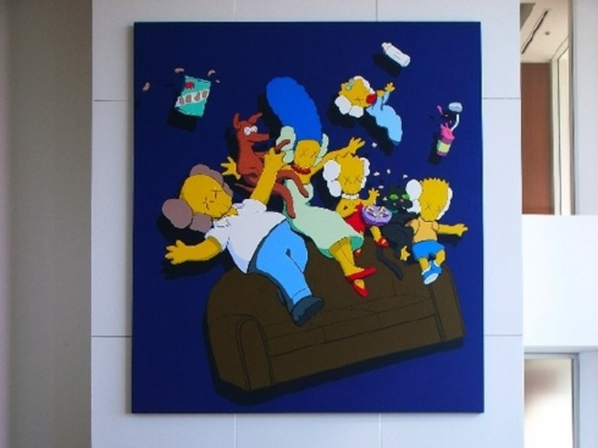 KAWS - Kimpsons Painting for Nigo - 1