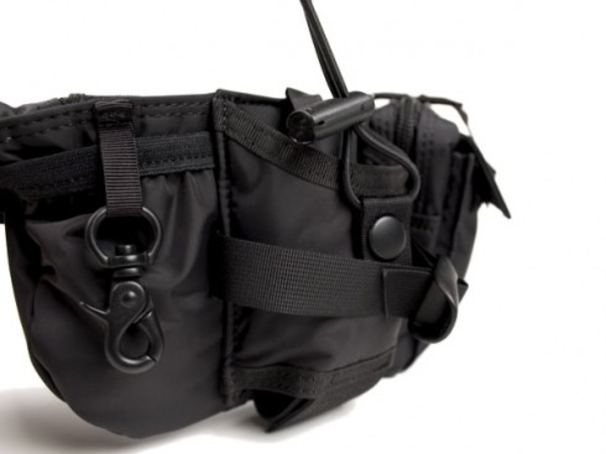 HEAD PORTER - Black Beauty - Rucksack + Waist Bag - 5