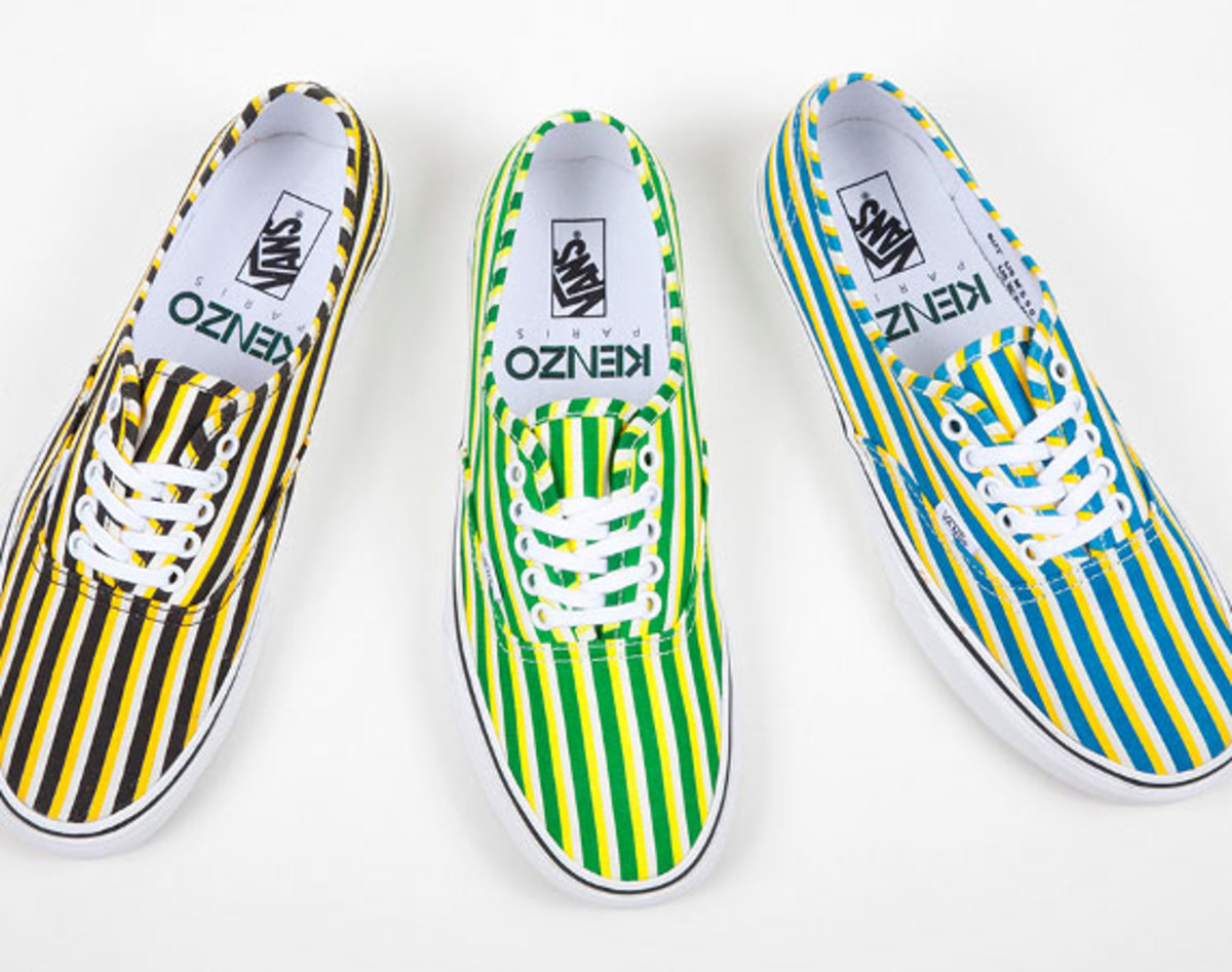 KENZO x VANS Authentic Stripes Collection Freshness Mag