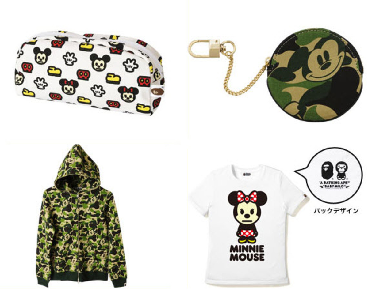 caf1e870 In a similar vein as A Bathing Ape's recent collaboration with KREAYSHAWN  on her cartoonized tee, BAPE pairs up with Tokyo DisneySea - Tokyo's own  Disney ...