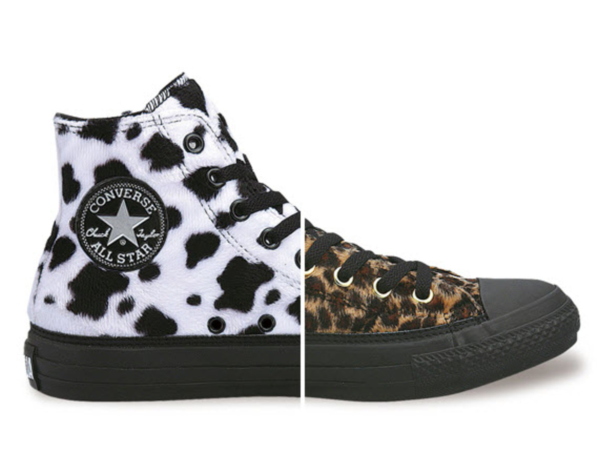 c7c8e0e89e CONVERSE goes wild with this animal print hi-top All Star dubbed the  Funimal Pack, targeted specifically for the ladies. The range features two  models of ...