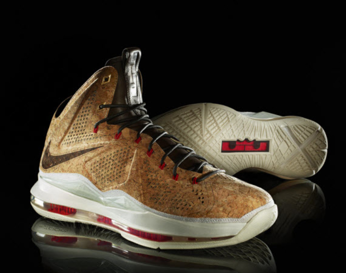 new arrival bdf03 1fc4a And to help pay tribute to his first ring, Nike has worked-up an  off-the-court version of the Nike LeBron X made entirely with a cork ...