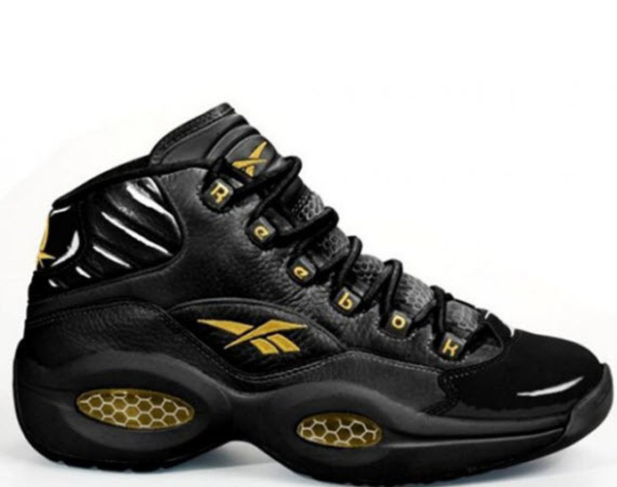 Swizz Beatz s influence on Reebok s rise back up the charts has been  unmistakable and the reappearance of a Black Gold Reebok Question is  further evidence ... 2601df20e