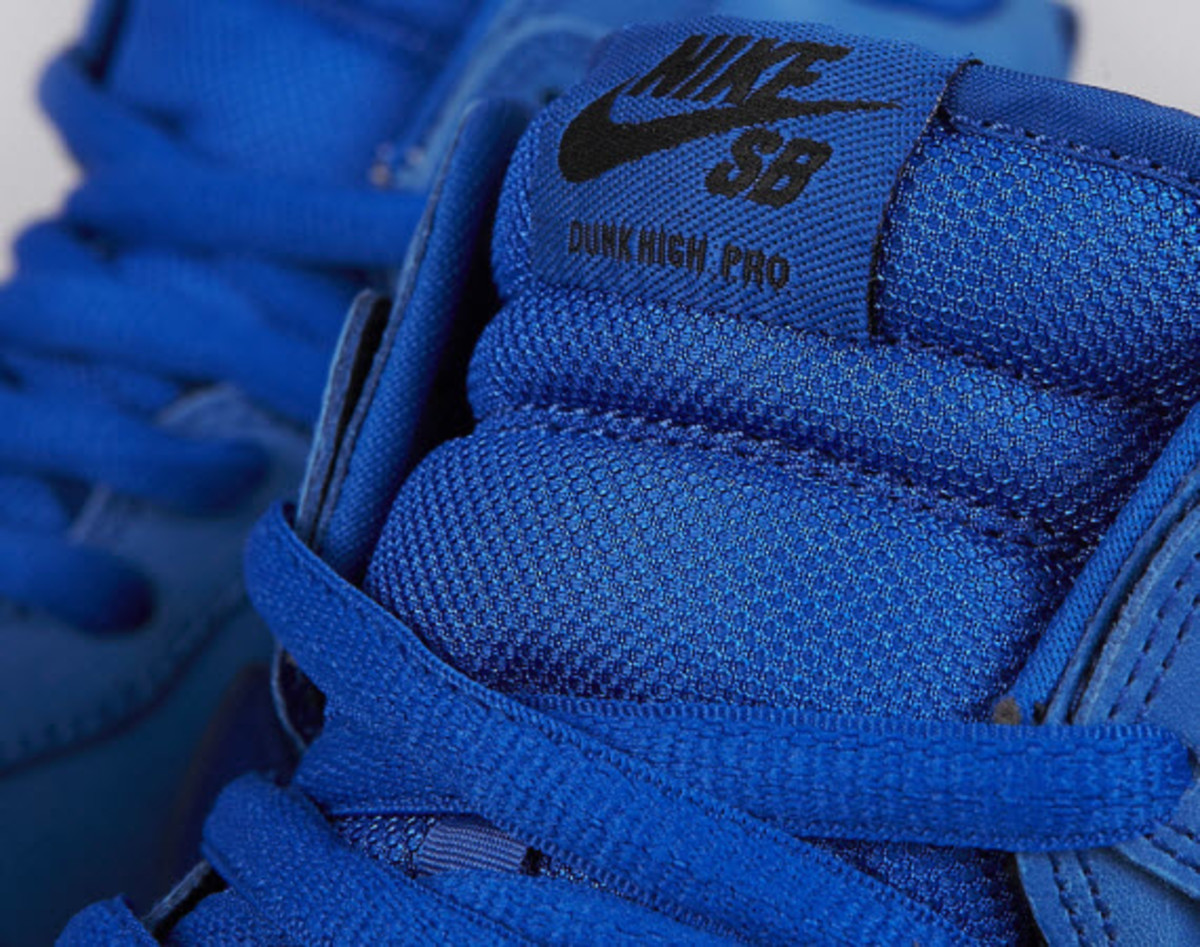 competitive price 5e4c0 ca816 All the talk may be about Black Friday, but Nike SB is preparing to close  out 2012 with a bold blue Dunk High Pro. The head-turning shoe claims a  two-tone ...